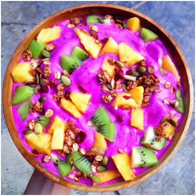 Try this Chocolate, Peanut Butter and Banana Smoothie Bowl and 9 other breakfast smoothie bowls to boost your health.