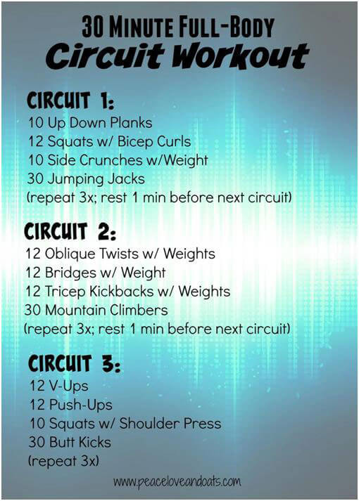 Do a Full Body Circuit Workout in Just 30 Minutes