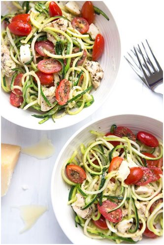 Try these Zucchini Noodles with Creamy Avocado Pesto and 9 other delicious spiralizer recipes.