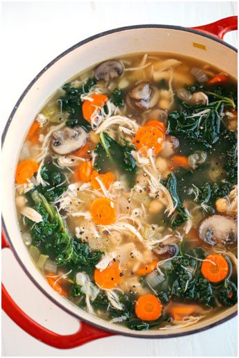 Try this Minestrone Soup and 15 other healthy and delicious recipes you can enjoy all year long.