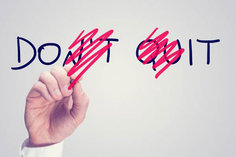 Learn 5 reasons why most people quit and how to overcome them.