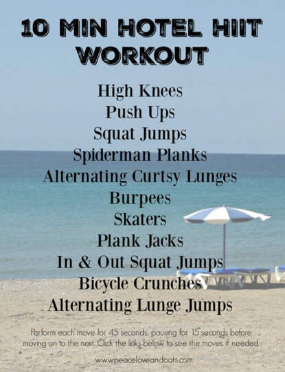 This 10 minute HIIT workout is perfect to do the next time you stay in a
